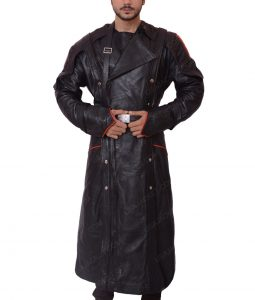 The First Avenger Red Skull Black Trench Coat