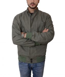 Terrier The Gunman Sean Penn Slimfit Bomber Green Jacket