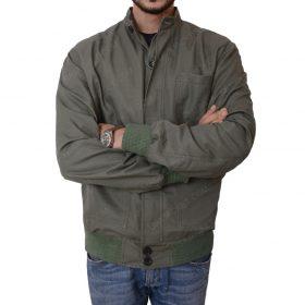 Terrier The Gunman Sean Penn Slimfit Bomber Green Jacket