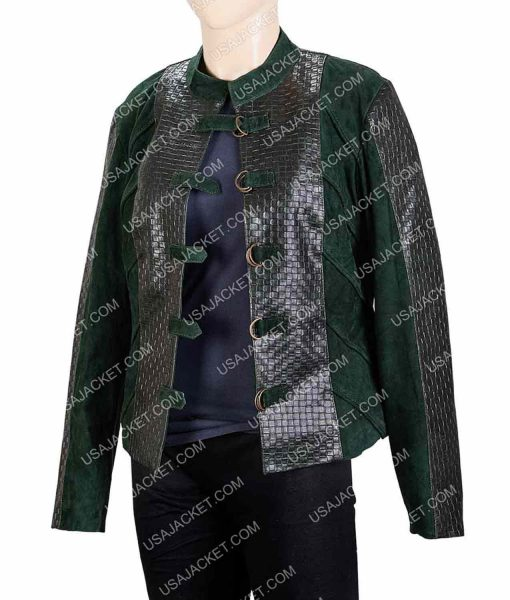 Jessica Green The Outpost Talon Cropped Leather Jacket