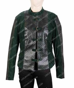 The Outpost Talon Cropped Green Jacket