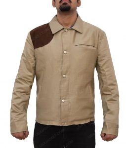 Boyd Holbrook The Predator Quinn McKenna Cotton Brown Slimfit Jacket
