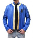 Video Game Blue Leather Jacket