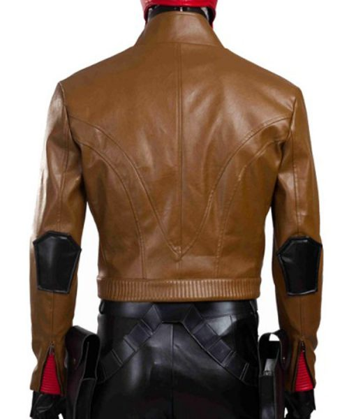 Batman Under the Red hood Cropped Jacket
