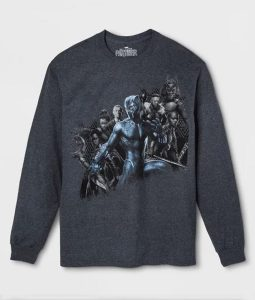 Marvel Black Panther Group Full-Sleeve T-Shirt