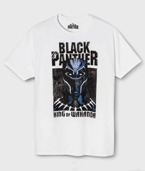 Black panther Logo White T-Shirt