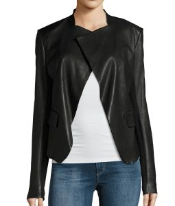 Juliana-Harkavy-Arrow-Black-Drape-Style-Jacket