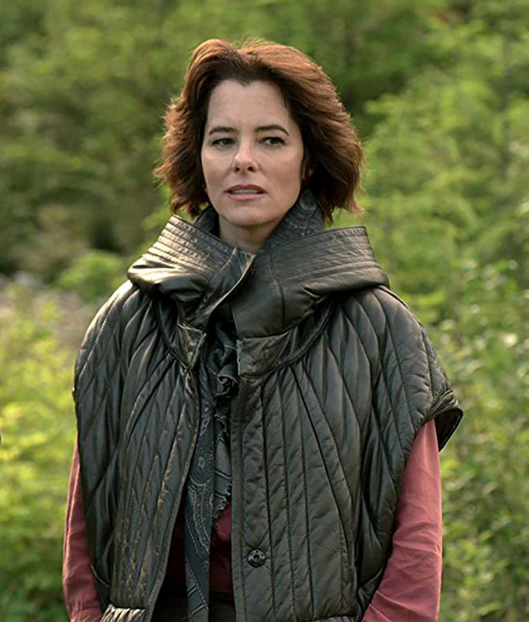 Lost In Space Tv Series Parker Posey Black Quilted Hooded Jacket