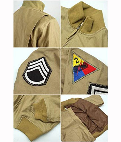 Fury Brad Pitt WW2 Jacket
