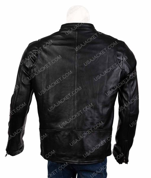 Gotham James Gordon Black Leather Jacket
