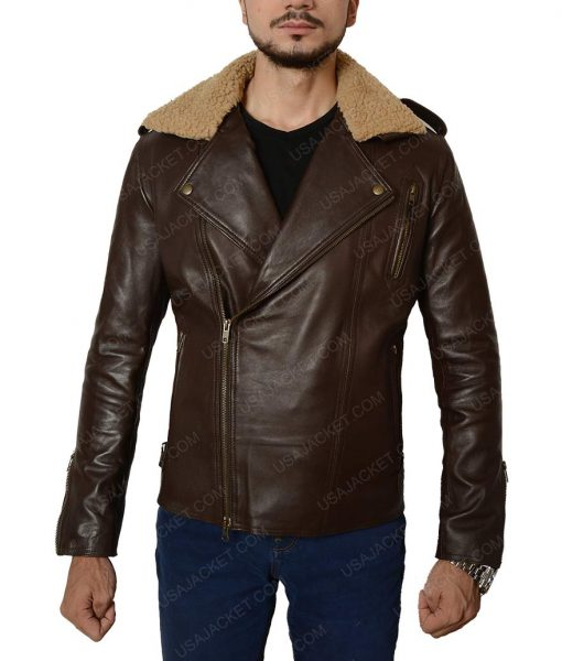 Harry Styles Fur Collar Leather Jacket