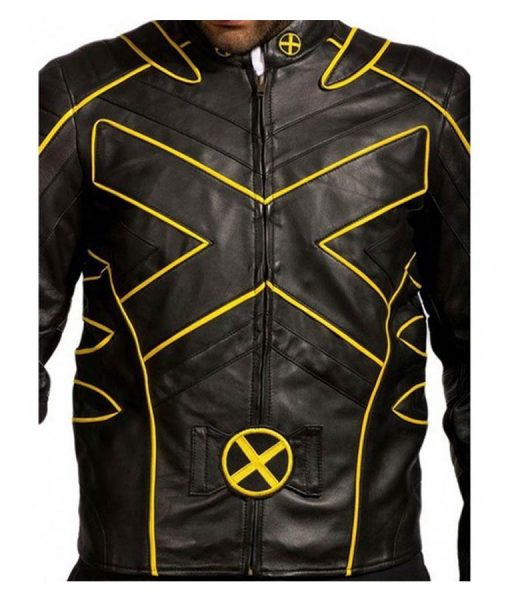 X-Men The Last Stand Yellow Stripe Moto Jacket