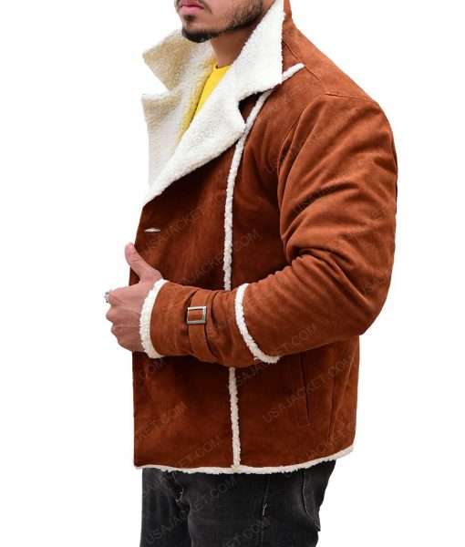 Ron Stallworth Shearling Jacket