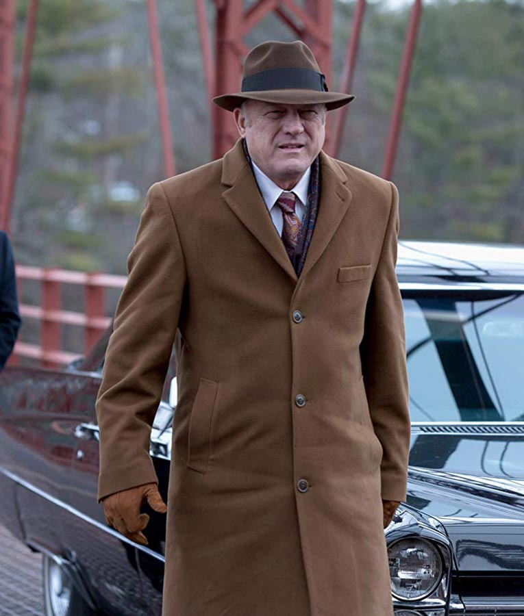John Doman Gotham Series Carmine Falcone Brown Coat
