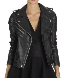 Arrow-Katie-Cassidy-Stitched-Black-Jacket
