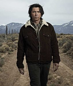 lou Diamond Philips Pur collar Jacket