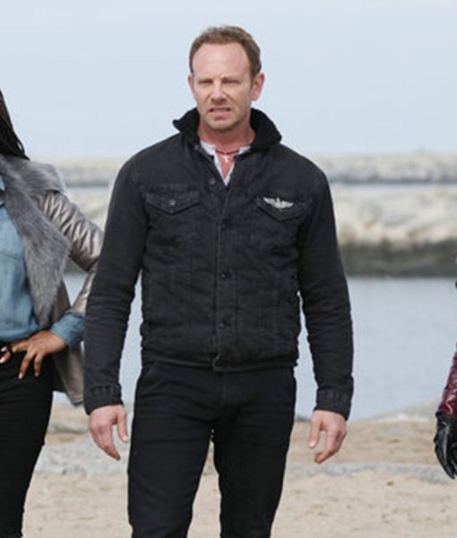 Ian Ziering Black jacket