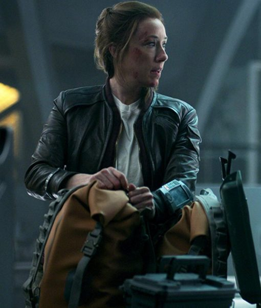 Molly Parker Lost In Space Leather Jacket