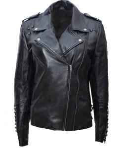 The Last Sharknado Its About Time Nova Cassandra Scerbo Motorcycle Leather Jacket