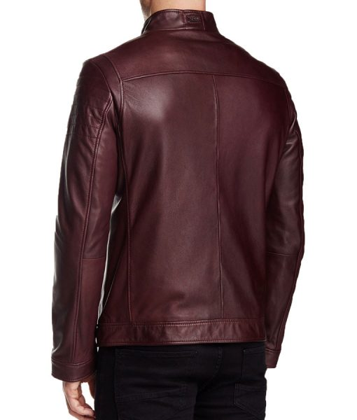Stephen-Arrow-Red-Leather-Jacket