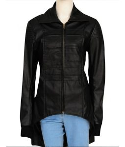 Camren Bicondova Gotham Series mid length coat