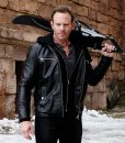 Sharknado Lan Ziering Leather Jacket