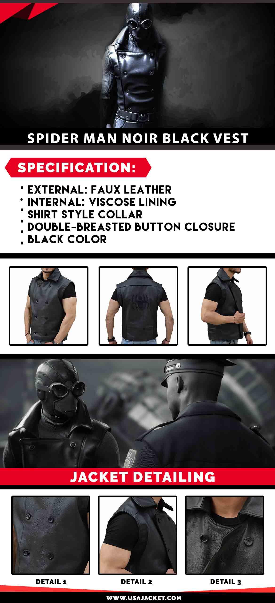 Noir Black Vest