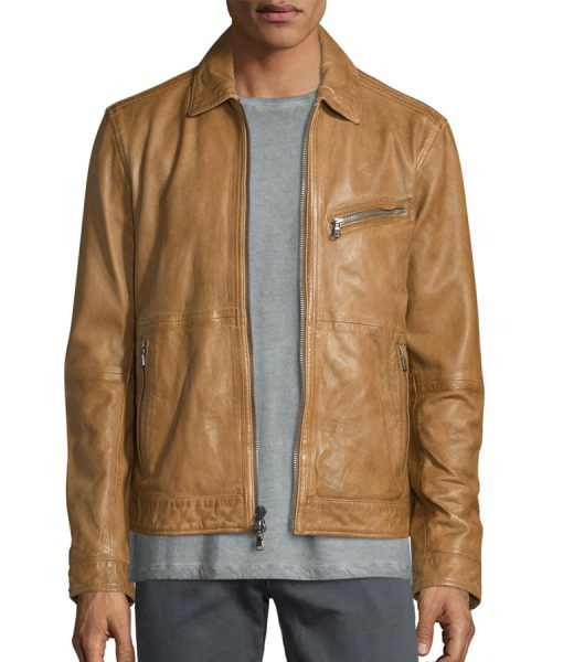 Brow-Suede-leather-jacket