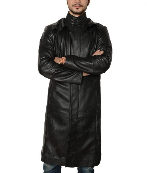 The Matrix Keanu Reeves Neo Slimfit Black Coat