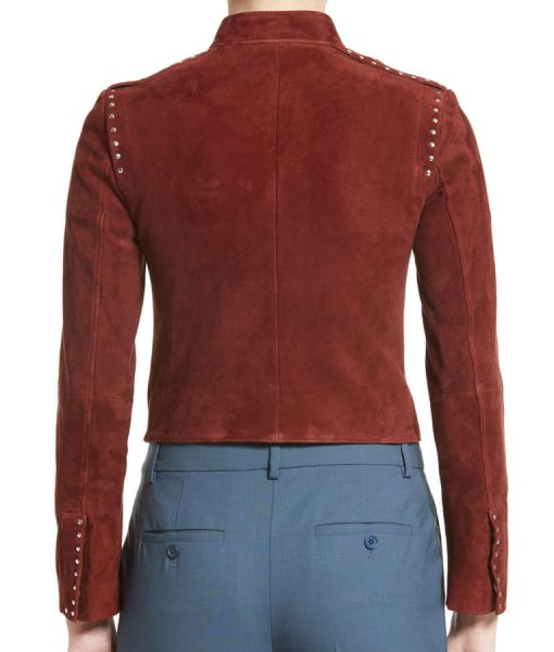 Thea-Red-Studded-Jacket