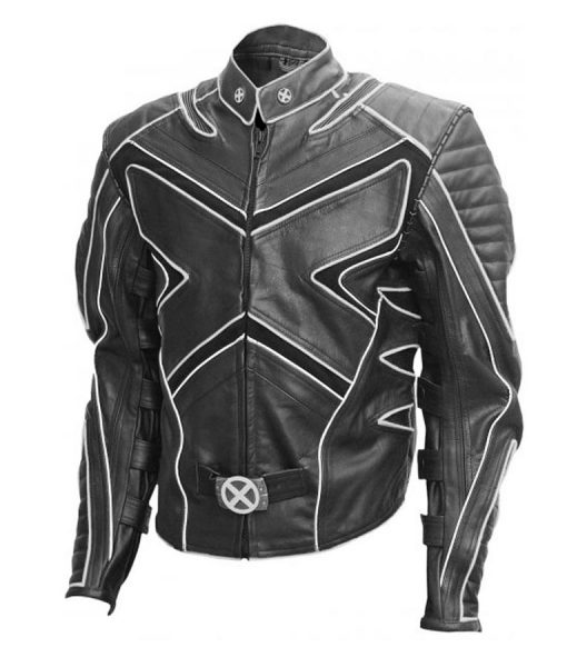 Hugh jackman Black Biker jacket