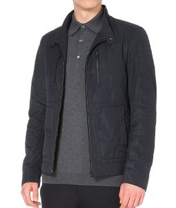 Arrow-OliverBlack-Zip-shell-jacket