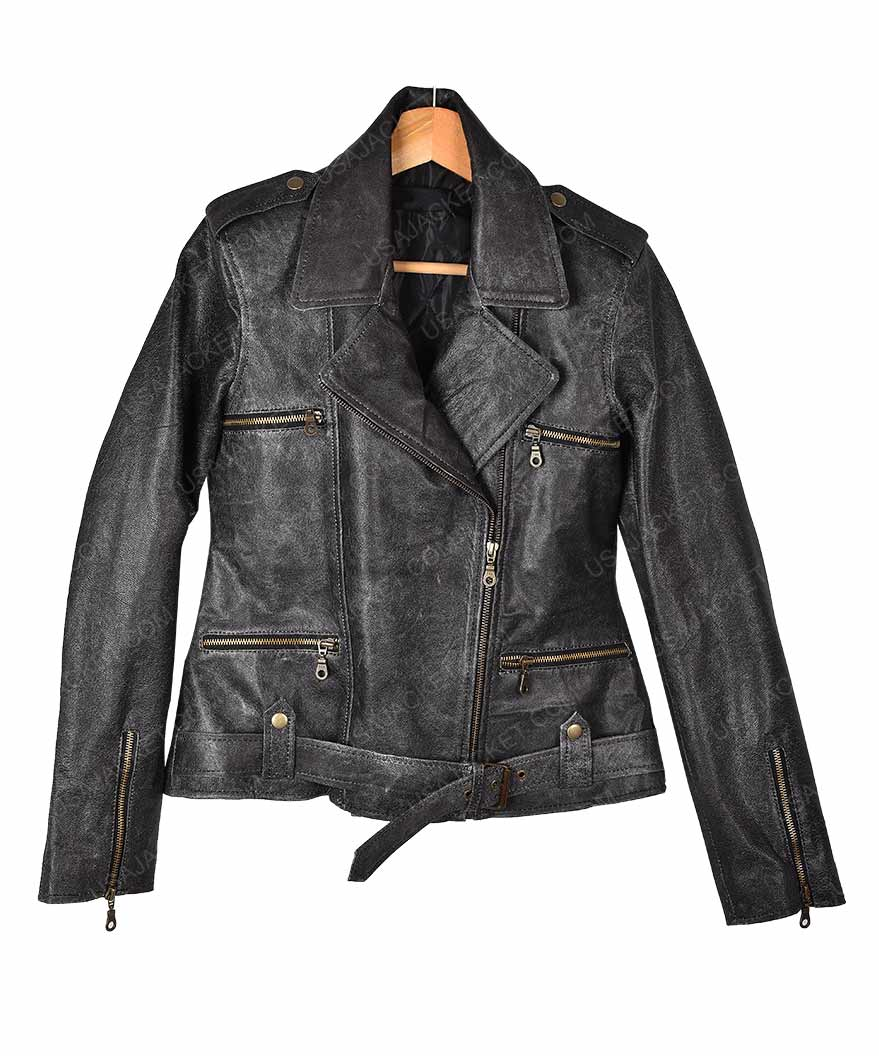 captain marvel carol danvers leather jacket (free t- shirt)