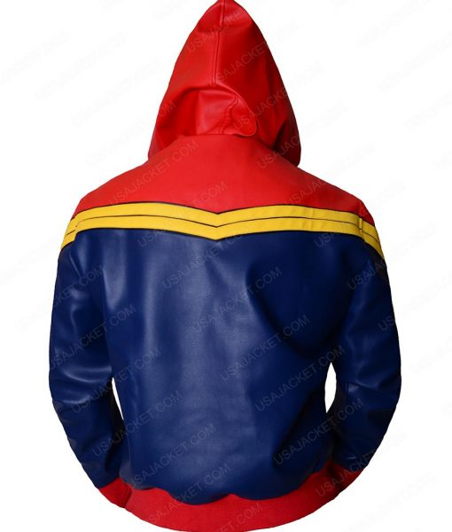 Captain Marvel blue and Red Hoodie
