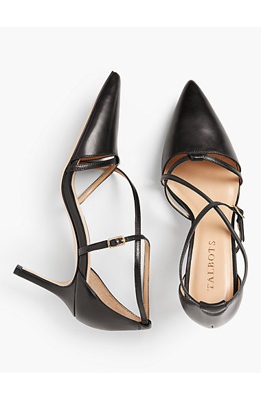 Erica Strappy Pumps – Nappa Leather