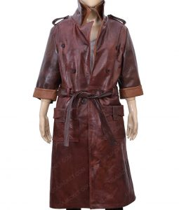 Fallout 4 Piper Belted Wright Leather Coat