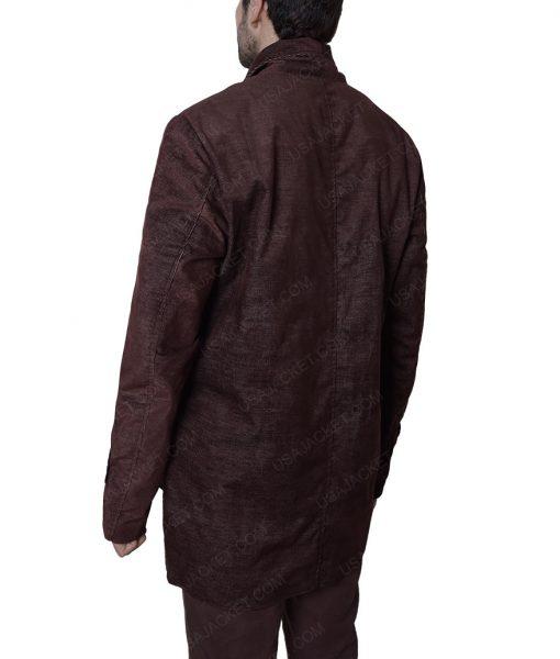 Matt Scudde A Walk Among The Tombstones Liam Neeson Brown Cotton Jacket