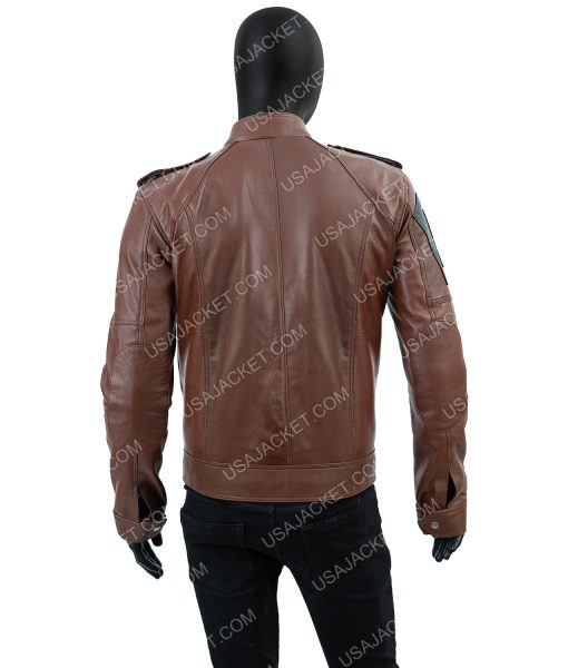 Tom Clancy's The Division Distressed Brown Leather Jacket