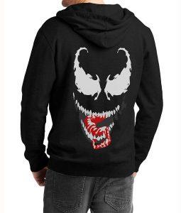 Mens-We-Are-Venom-Logo-Grey-Hoodie