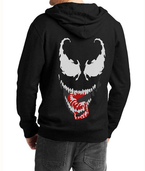 Mens-We-Are-Venom-Logo-Grey-Hoodie