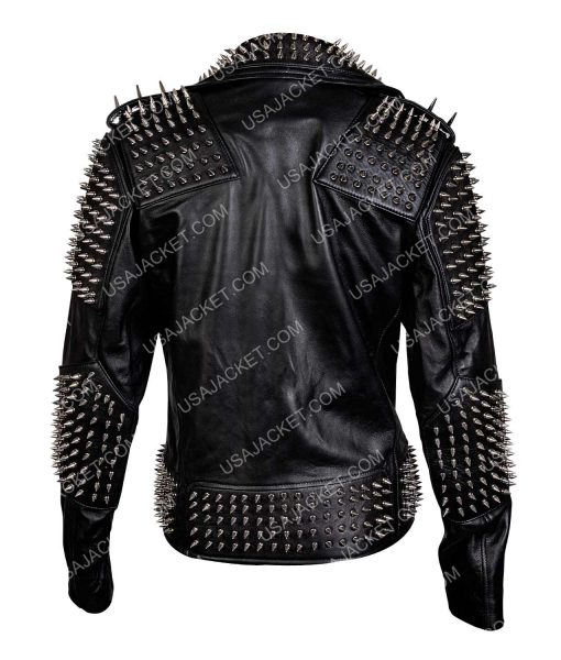Asymmetrical Silver Spikes Jacket