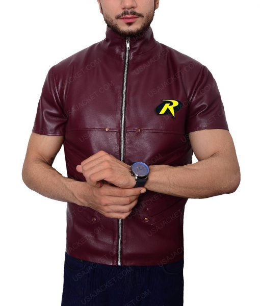 Robin Batman Padded Design Leather Vest