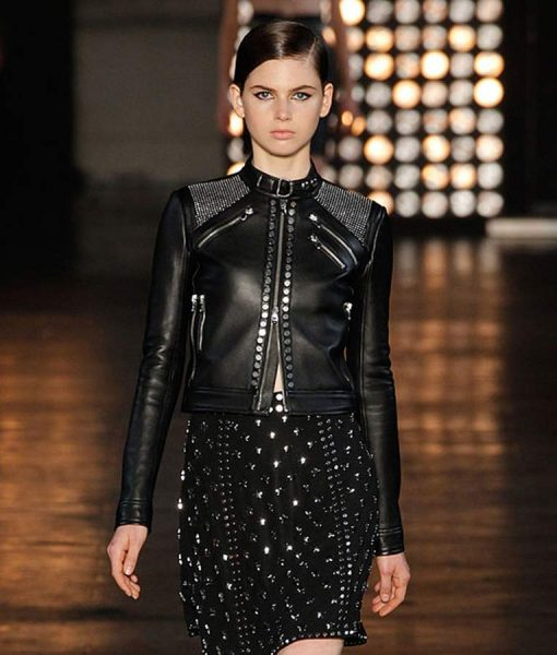 Womens Studded leather jacket
