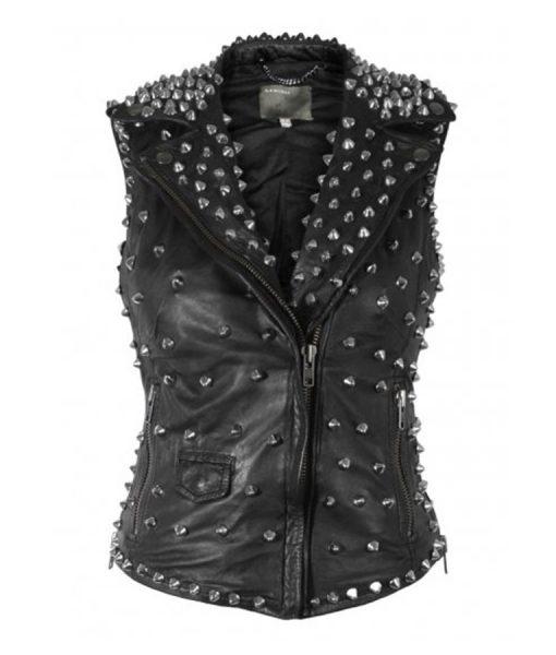 Black Studs Vest