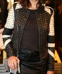 womens Black and white jacket