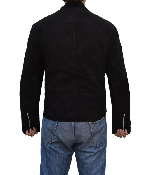 Buddy Baby Driver Jon Hamm Asymmetrical Leather Jacket