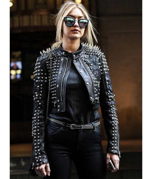 Gigi Hadid Spikes Jacket