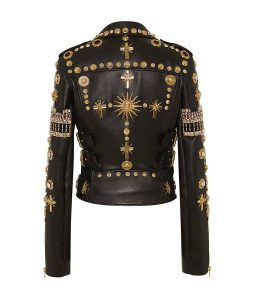 Double Zipper Black Biker Jacket