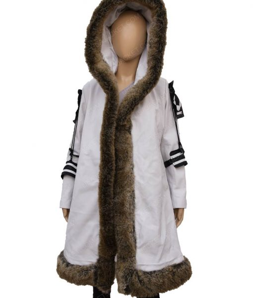 Kate Beckinsale Underworld Blood Wars Selene White Fur Coat
