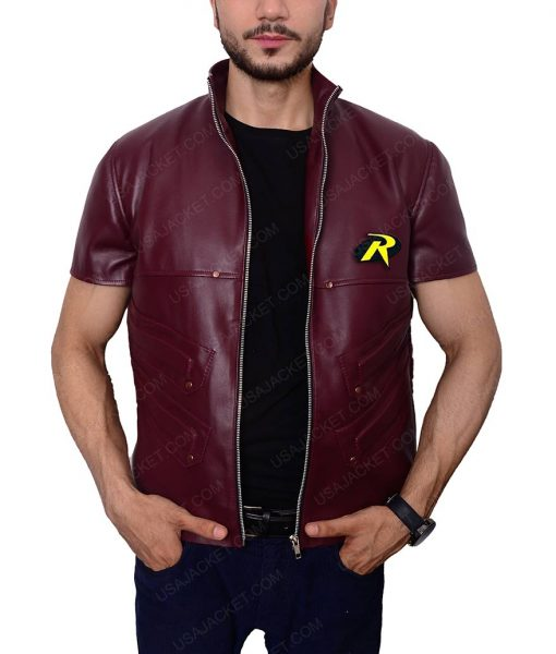 Robin Batman Arkham City Leather Vest